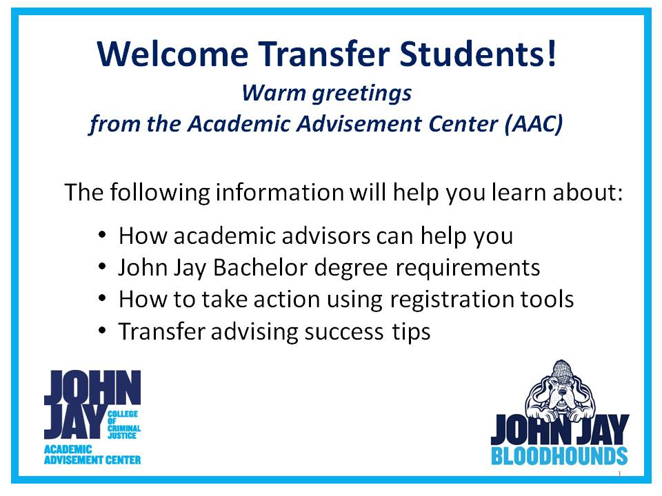Welcome Transfer Students