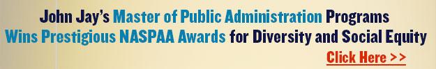 John Jay's MPA Programs Wins Prestigious NASPAA Awards for Diversity ad Social Equity