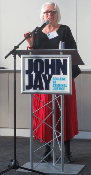 Distinguished speaker at podium